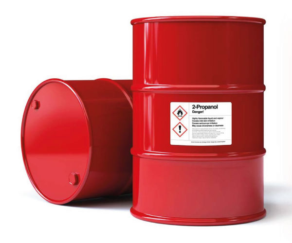 GHS labels for chemical drums