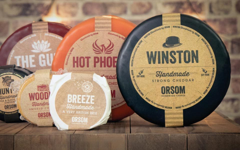 Printed labels for Orsom Cheese